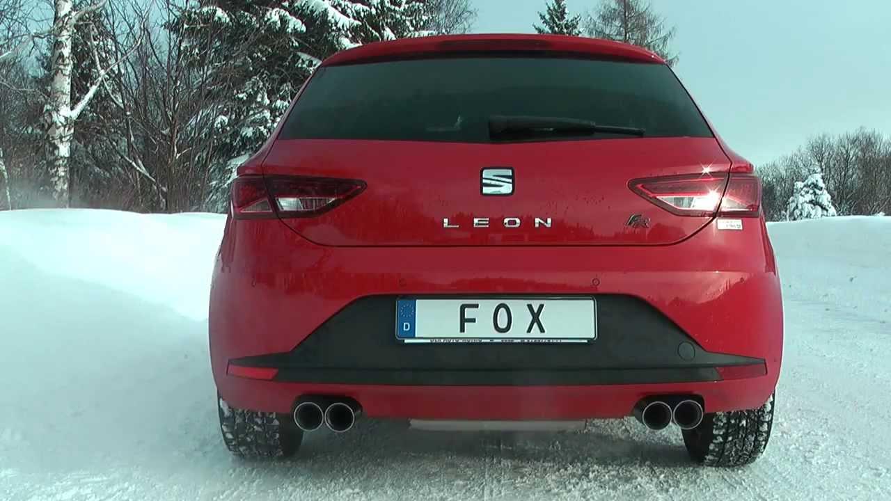 fox sportauspuff seat leon 5f 1 4 tsi 122 ps youtube. Black Bedroom Furniture Sets. Home Design Ideas