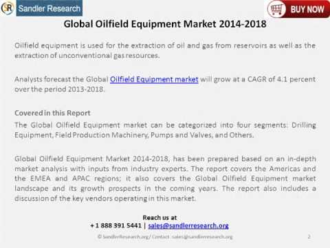 New Research On Global Oilfield Equipment Industry 2014-2018