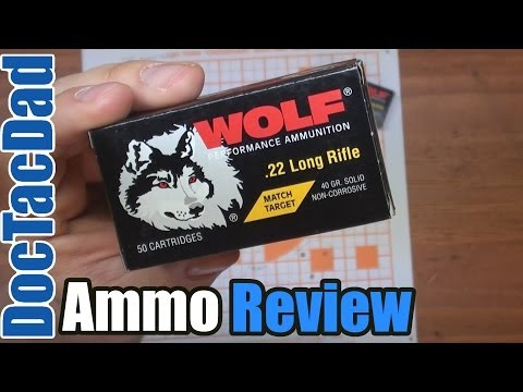 (Epic Fail?) Wolf Match Target.22LR - 100 Yard - Ammo Review