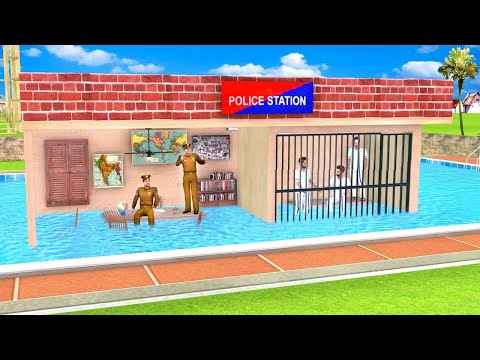 Swimming Pool Police Station Funny Comedy Video हिंदी कहनिया Hindi Kahani Stories Hindi Comedy Video