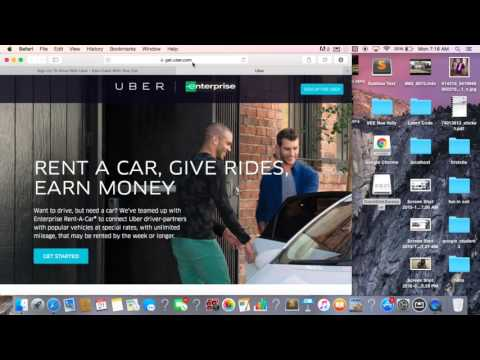 Uber And Enterprise Car-Rental. $281 A Week With Unlimited Miles video #2