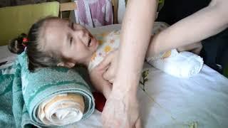 Диана проходит массаж по методике Сандакова