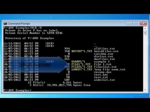 MS-DOS DIR /X Command - Display short names for non-8dot3 file names