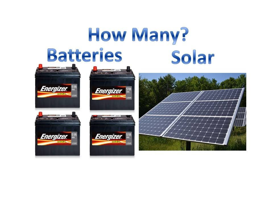 Solar Panel Battery Bank >> How I Size Solar Battery Bank And Solar Panels How Many Batteries