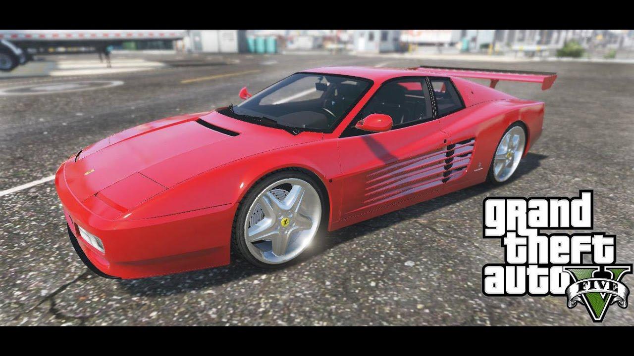 Ferrari Testarossa 512 1991 Gta 5 Mods Youtube