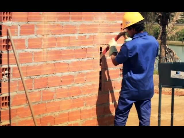 Bloco Vertical City economiza argamassa e mão-de-obra