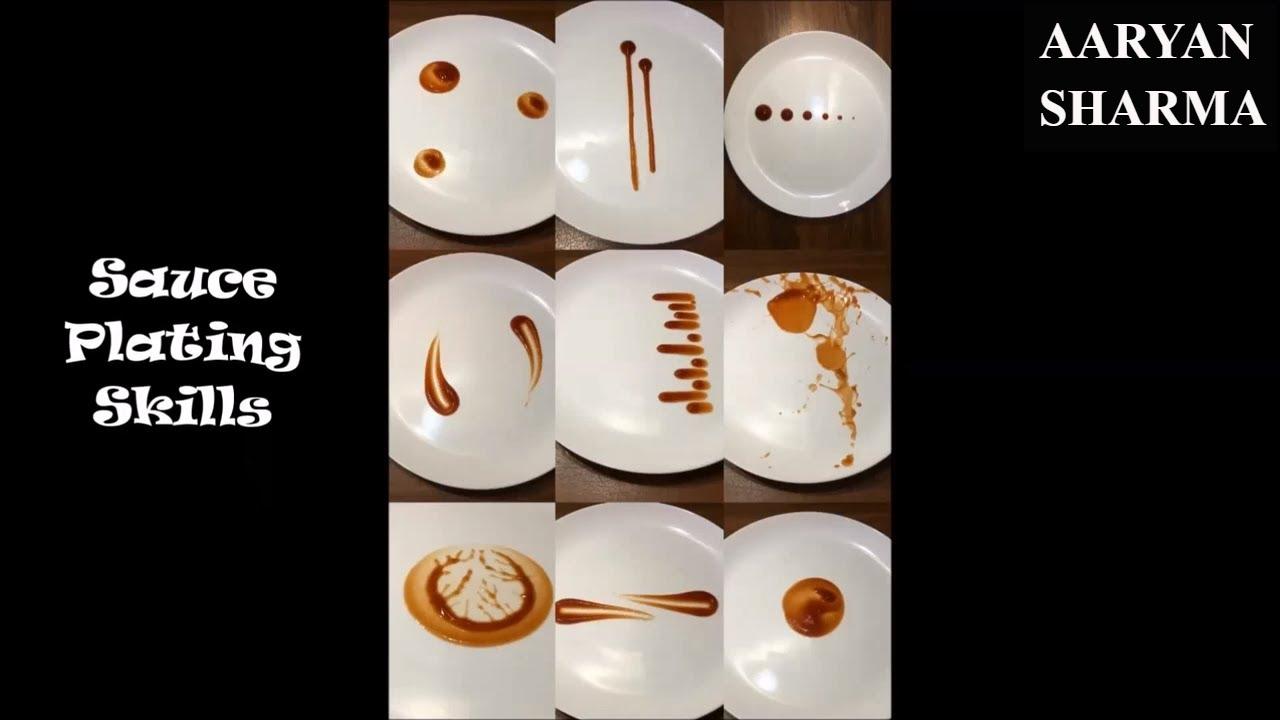 13 Sauce Plating Skills Ideas Youtube