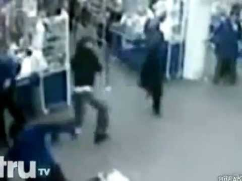 Russian Security Guards Group Fight