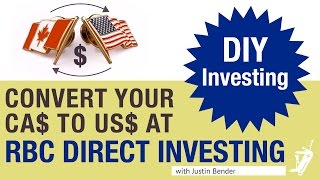 Norbert's Gambit at RBC Direct Investing | DIY Investing with Justin Bender