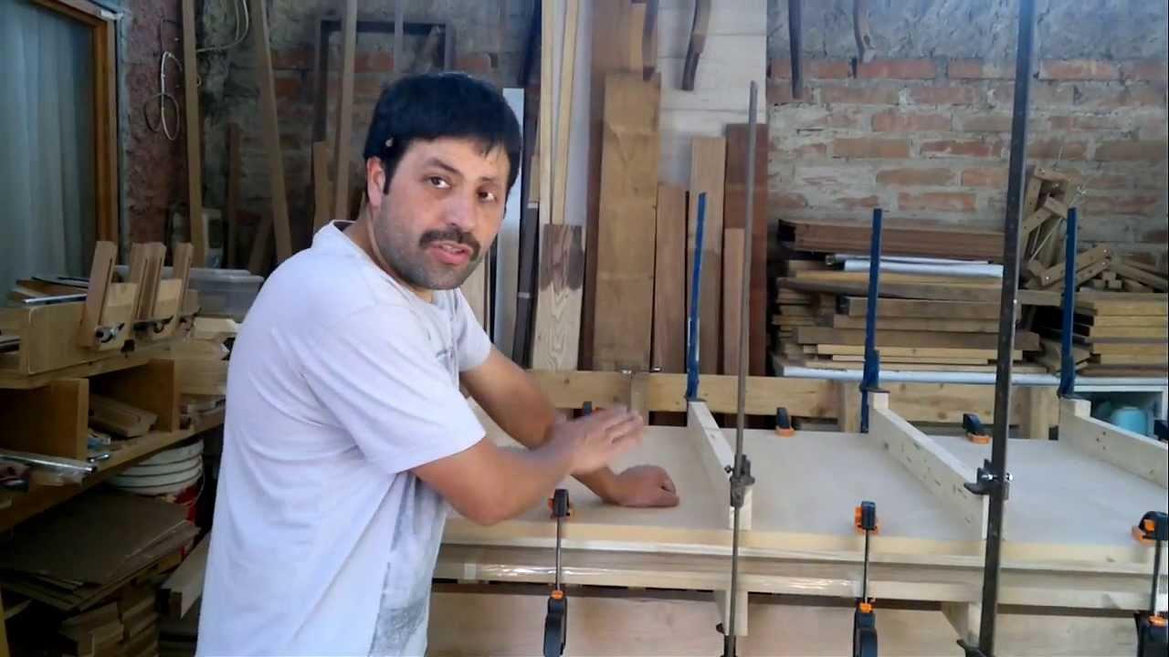 Como hacer puertas de interior en mdf y bastidor de madera for Como hacer una puerta de madera para exterior