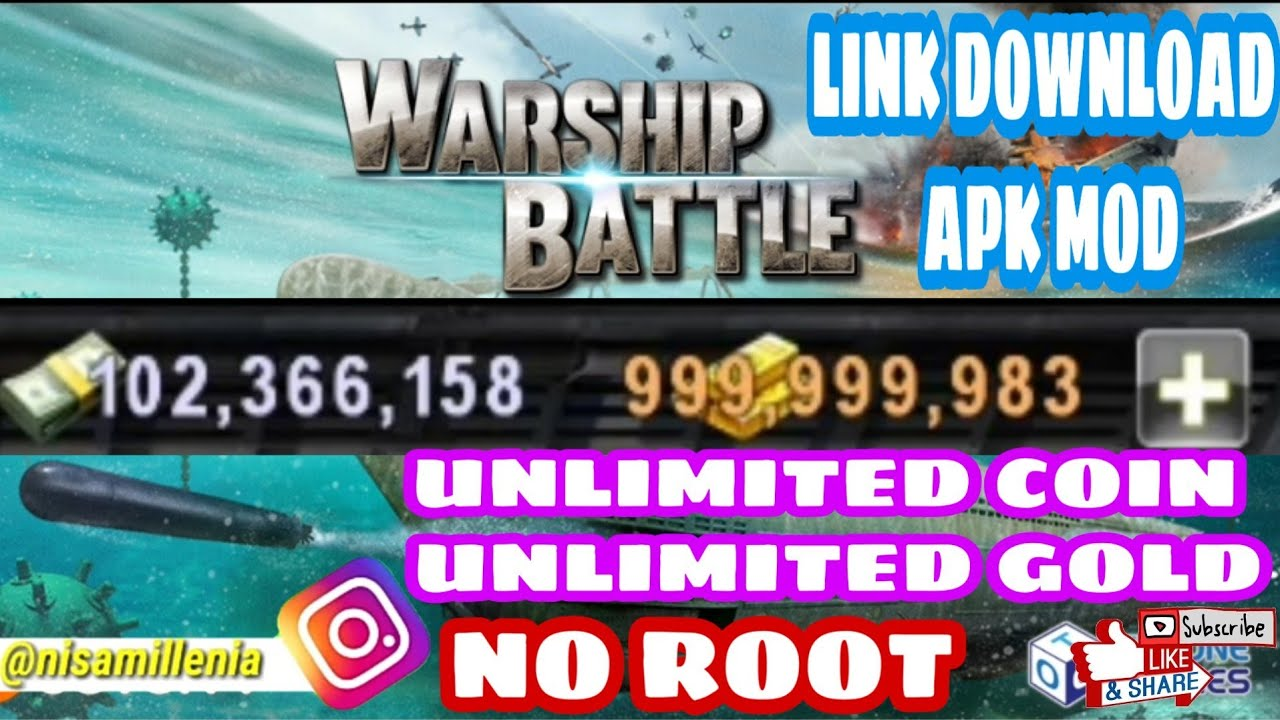 GAME MOD - CARA DOWNLOAD GAME WARSHIP BATTLE MOD APK DOWNLOAD FOR ANDROID ( UNLIMITED MONEY )
