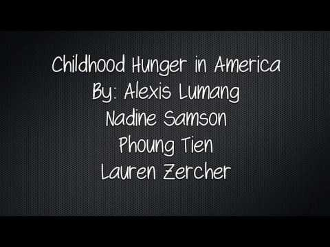 Child Hunger in the United States- READ290 Final