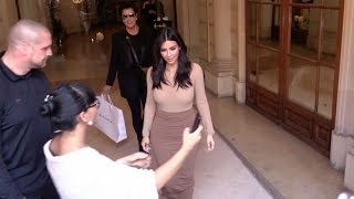 Kim Kardashian and Paris Hilton in the same building at the same time in Paris