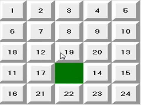 24 Puzzle (5x5 15 puzzle) Solve