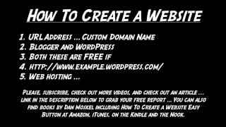 How To Create a Website - URL Address