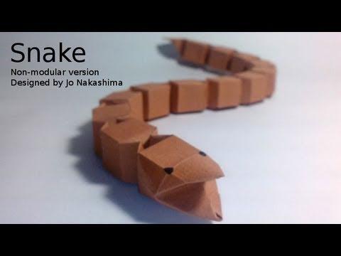 Origami Snake (Jo Nakashima) - Non-modular Version