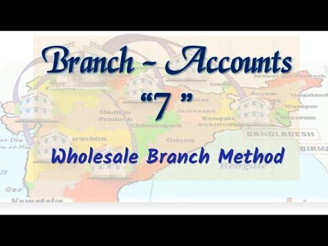 #7 Branch Accounts - Wholesale Branch Method