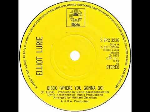 """Elliot Lurie – """"Disco"""" (UK Epic) 1975"""