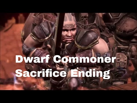 Dragon Age; Origins, Dwarf Commoner Sacrifice Ending |