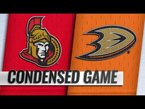 01/09/19 Condensed Game: Senators @ Ducks
