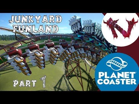 Double Decker Coaster   Planet Coaster   Junkyard Funland Part 1