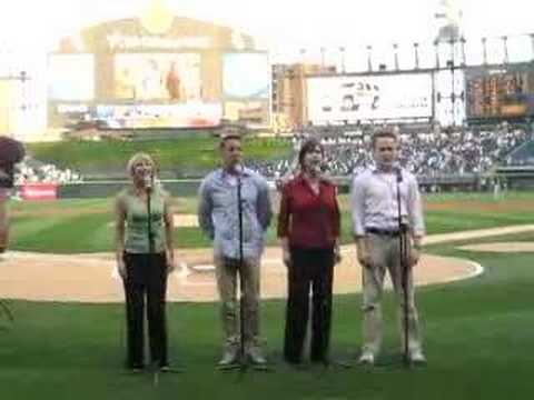 Forbidden Broadway sings National Athem at Chicago White Sox