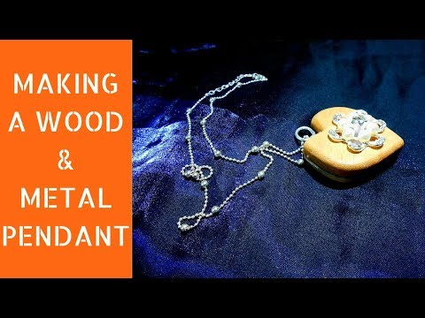 Making a wood and metal pendant | Diy pendant