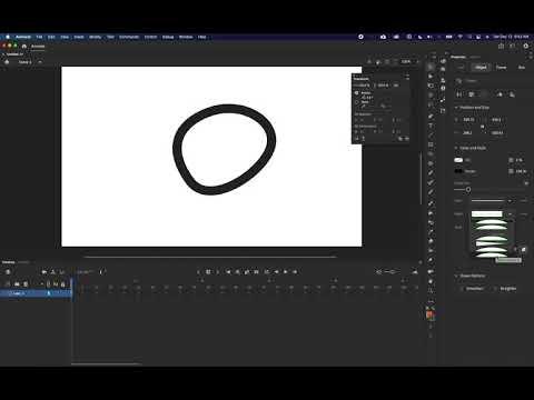 Adobe Animate - Style & Width Dropdowns Display Bug