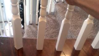 Securing banister spindles