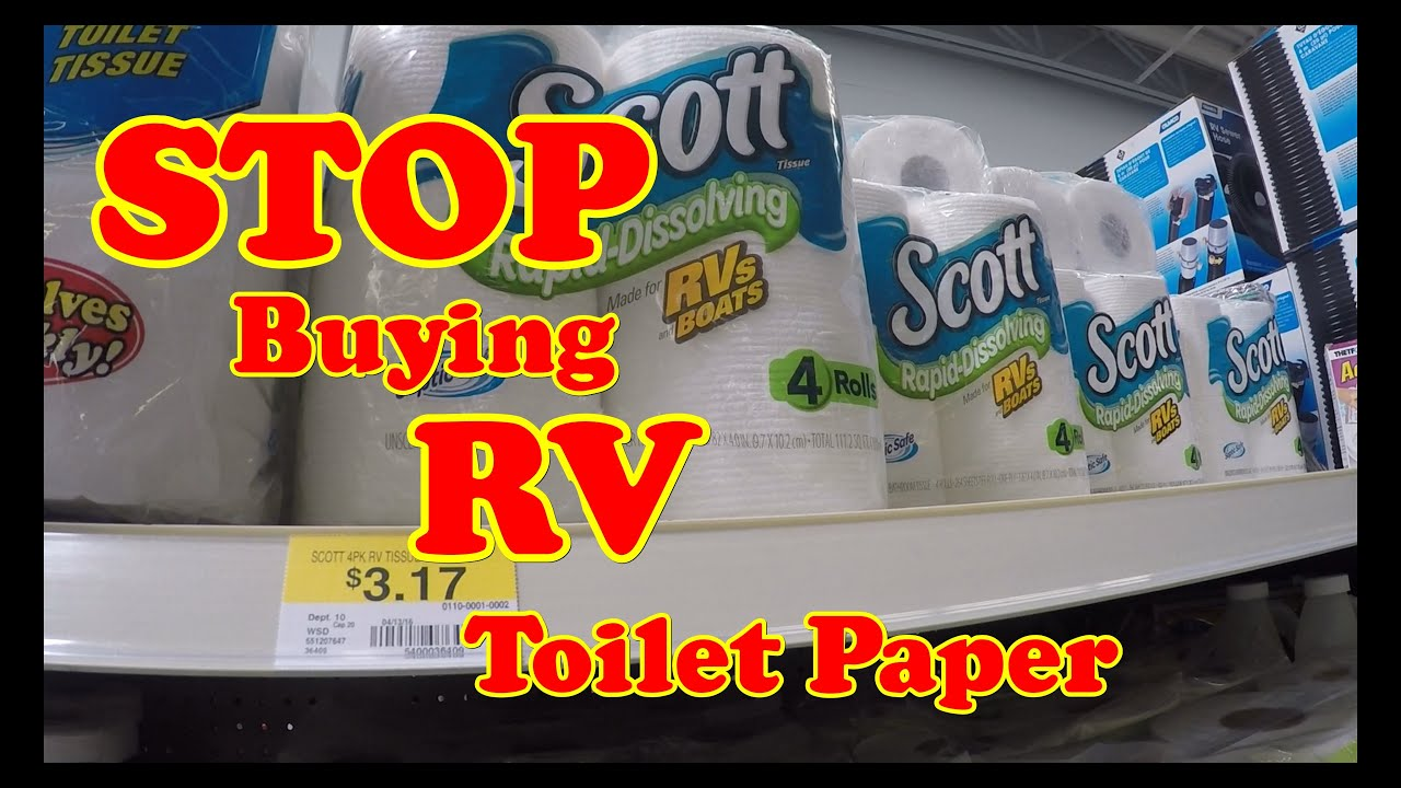 No more buying RV Toilet Paper - YouTube