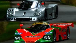 80s & 90s Le Mans Cars Making Noise at Goodwood FoS
