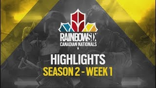 Rainbow Six Canadian Nationals: Online Circuit 2 | Week 1 Highlights Reel | Ubisoft [NA]