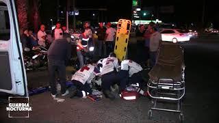 Conductor escapa tras generar un aparatoso choque en Av. Vallarta #GuardiaNocturna