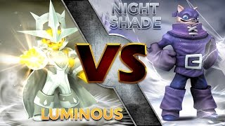 Skylanders Trap Team - Luminous VS Nightshade
