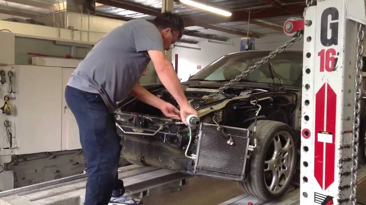 997 Porsche Carrera S Front Collision Repair Frame Pull