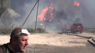 Взрыв на нефтебазе БРСМ.Горят пожарные машины и машины скорой помощи(http://shitimech.com/%D0%BF%D0%BE%D0%B6%D0%B0%D1%80-%D0%BD%D0%B0-%D0%BD%D0%B5%D1%84%D1%82%D0%B5%D0%B1%D0%B0 ..., 2015-06-09T06:36:24.000Z)