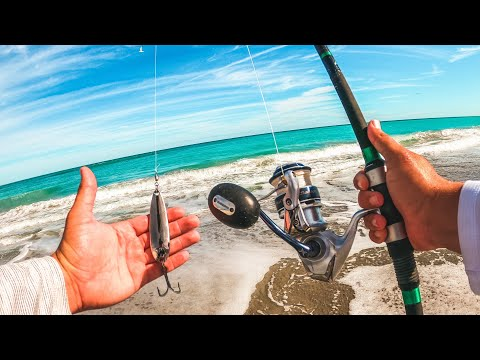 Simple Lure Catches Tons Of Fish | Spoon Fishing Off The Beach