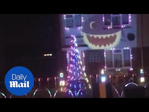Rachel Lutzker - Christmas Lights Set to 'Baby Shark'