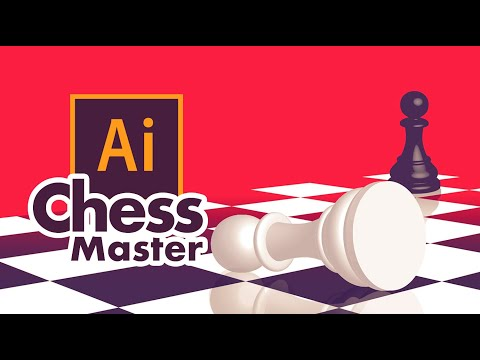 Graphic Design | Chess Illustration | Adobe Illustrator Tutorial thumbnail