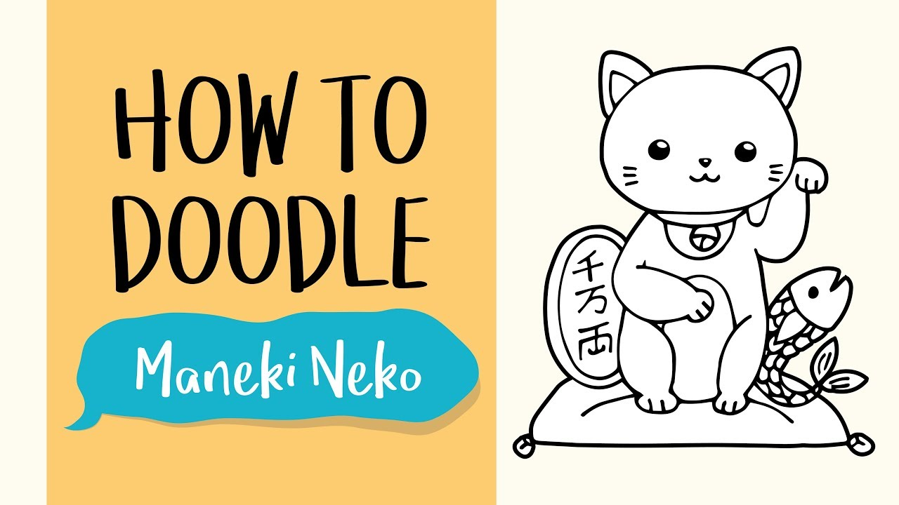 How To Draw A Maneki Neko The Lucky Cat Easy Step By Step Drawing