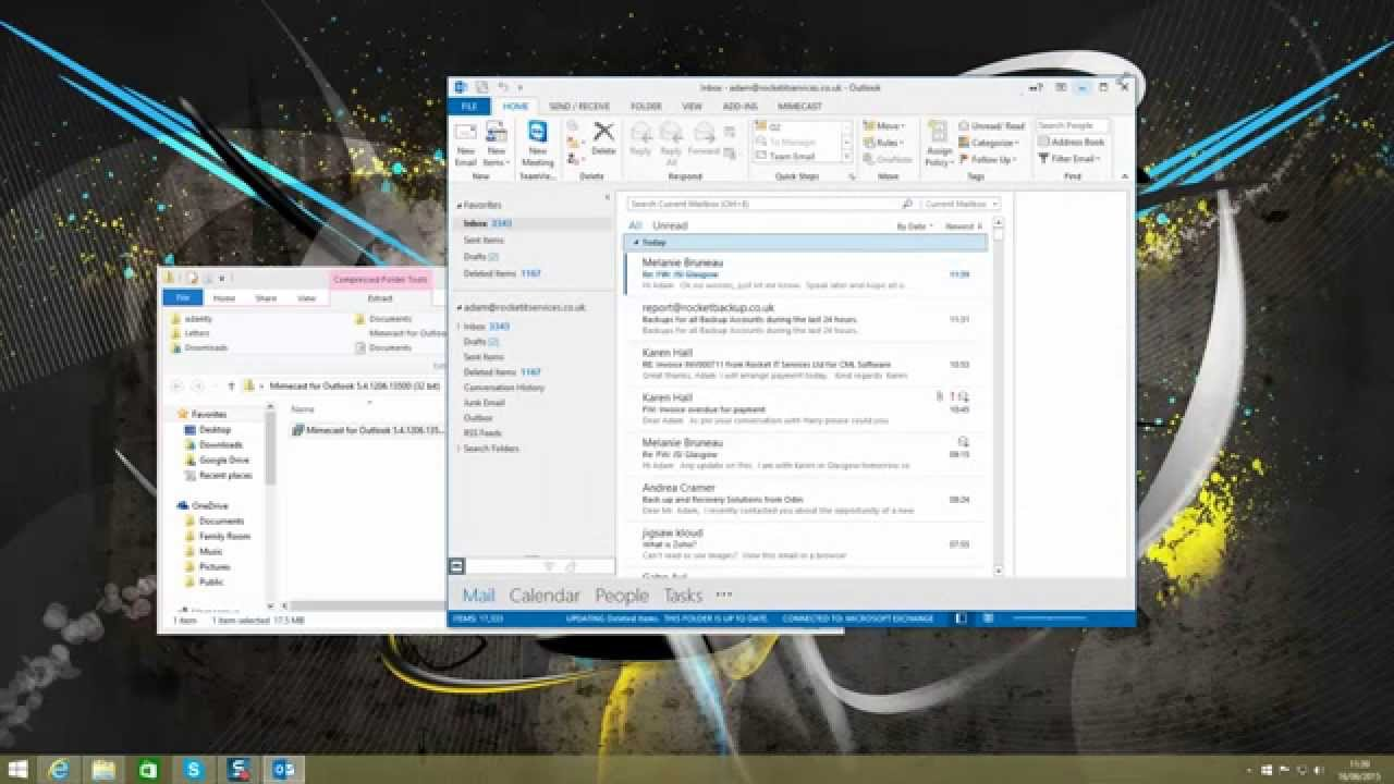 how to use mimecast for outlook