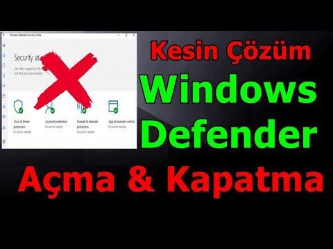 Windows Defender Tamamen Kapatma Ve Açma (Win10 - ÇÖZÜLDÜ ✔️ )