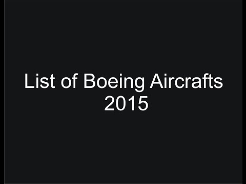 List of Boeing Aircrafts 2015