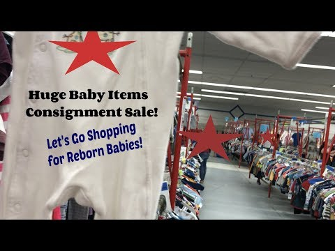 Huge Baby Consignment Sale! Come Find Out the Deals! Haul! Shopping for Reborn Baby Dolls!