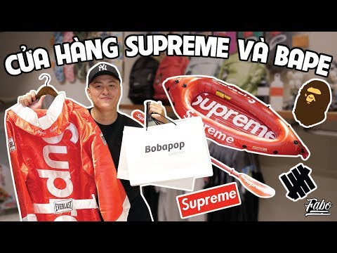Shopping Tại Cửa Hàng Supreme/ Bape | Bobapop Collection