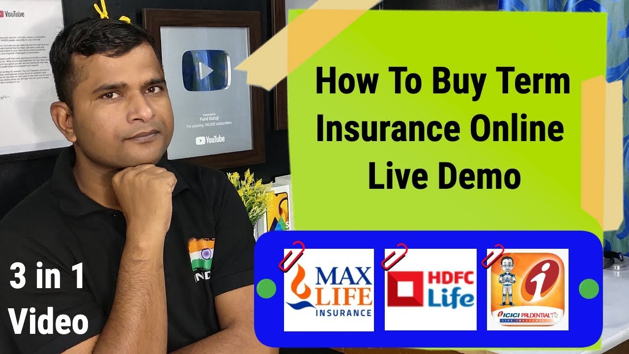 How To Buy Term Insurance Online Live Tutorial | Max Life ...
