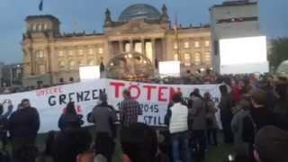 """Grenzen überwinden"" ??? (overcome borders!) - demo on german reunification day — 3rd october 2015"