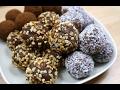 Toptha te mbeshtjellura me kokos, badema dhe kakao (Bombica)