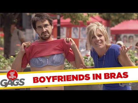 Boyfriends in Bras Prank