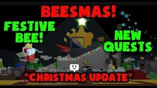 ¡ACTUALIZACIÓN DE CHRISTMAS! - BEESMAS! - FESTIVE BEE! - Roblox Bee Swarm Simulator